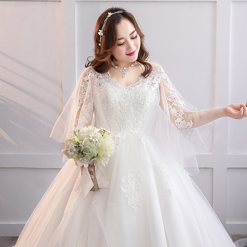 Extra Large 200 Pounds Wedding Dress 2019 New Bride Fat Mm 300