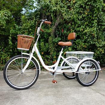 Трехколёсные,  24 дюймовый человек сила переключение передач трехколесный велосипед. для взрослых в пожилых фут велосипед старики педаль поколение шаг одиночная машина, цена 12652 руб