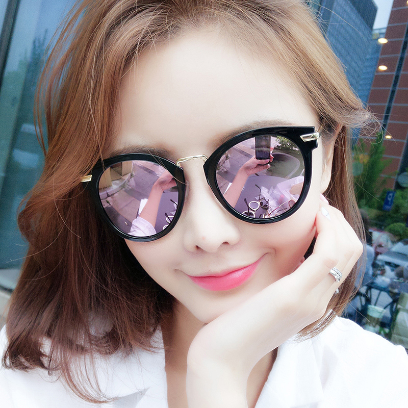 a9be941f42 USD 73.58  2018 New polarized sunglasses female tide round face red ...