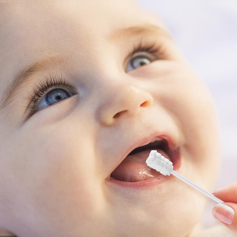 婴儿口腔清洁器新生儿的洗舌苔头神器乳牙刷纱布宝宝0-1-2-3一岁