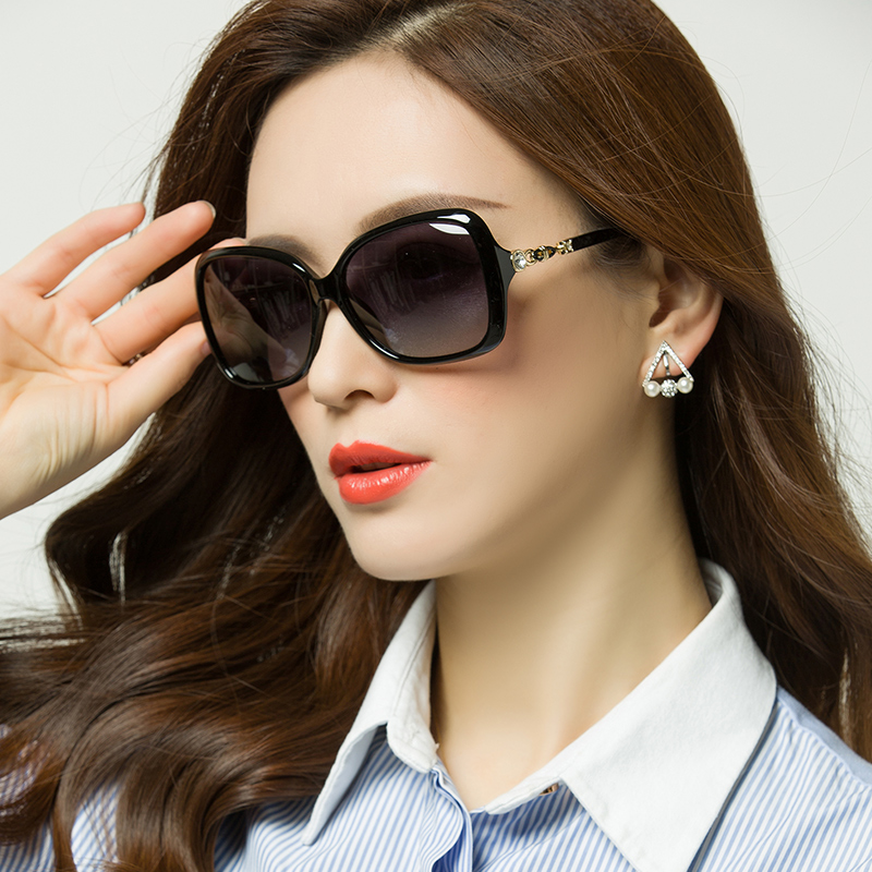 ee34a00381 2017 New polarized sunglasses round face 2018 sunglasses female Tide star  models can accompany myopia glasses square face red