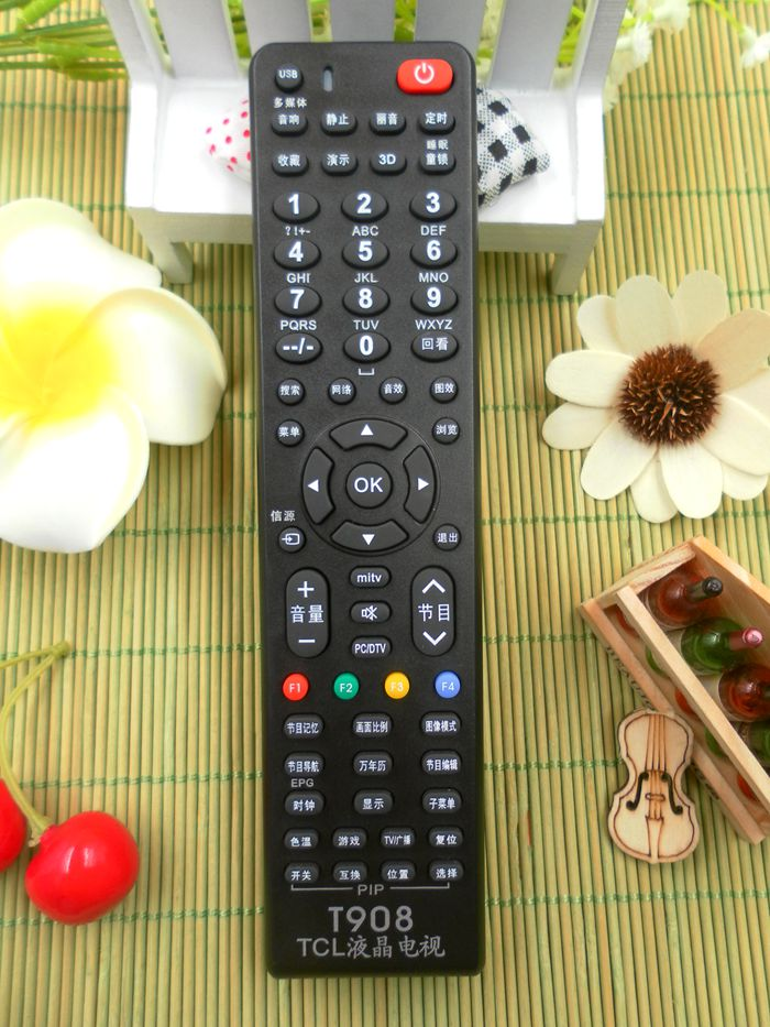 TCL LCD TV universal remote control brand Universal TCL flat multi-function  remote control board T908