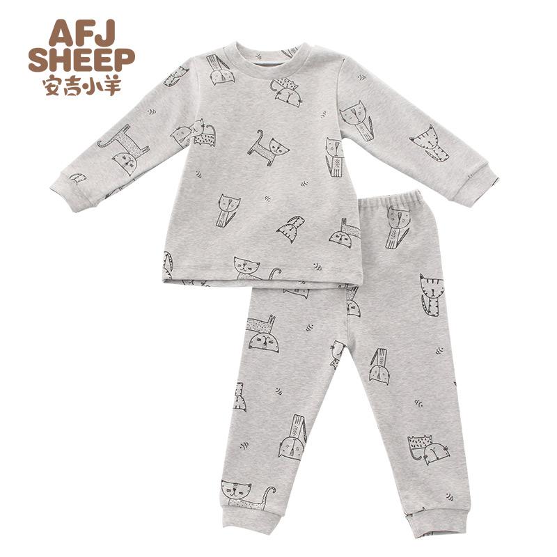 安吉小羊男女宝宝内衣套装打底套装宝宝1-3岁婴儿家居服套装春秋