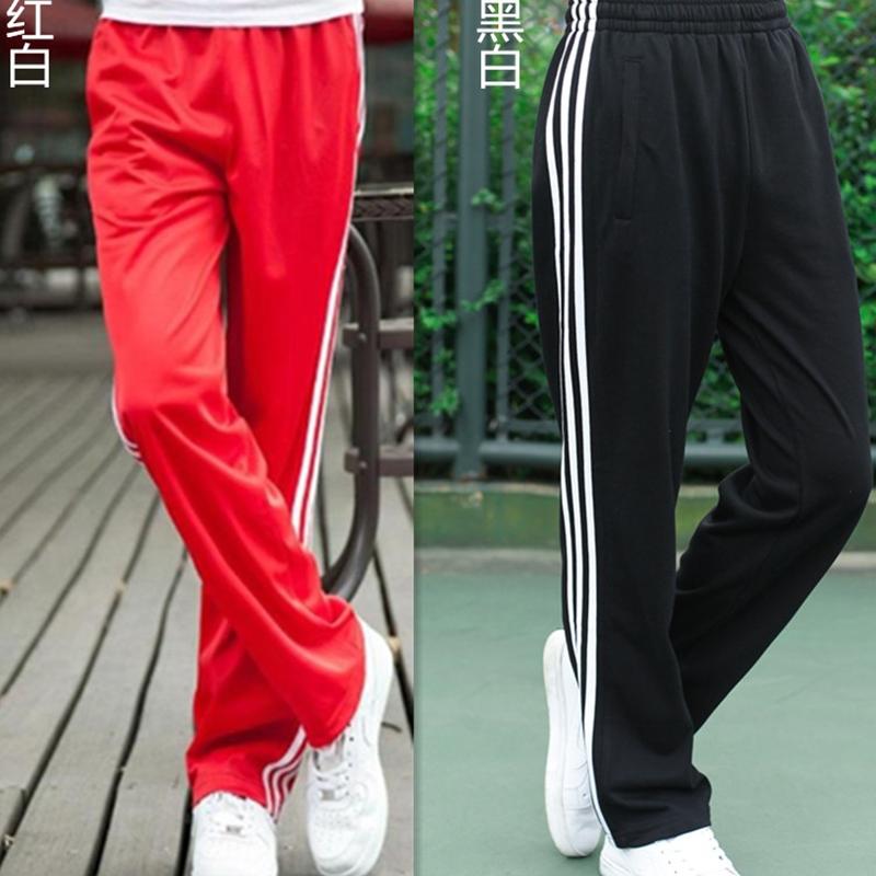 夏季薄款裤子速干男女同款长涤纶裤子健身休闲跑步运动长裤男男士