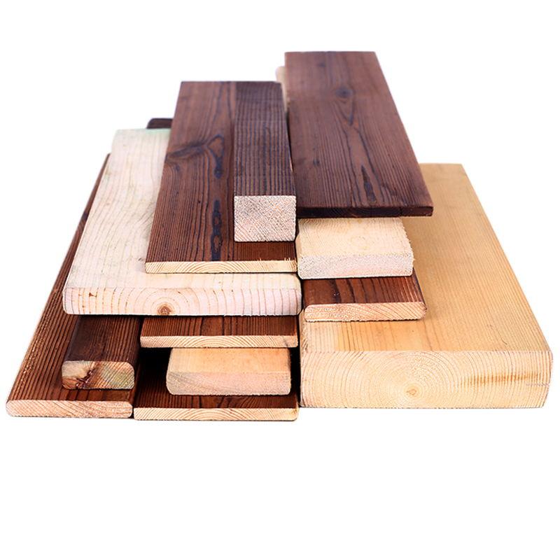 碳化木板户外防腐木板材葡萄架地板木方龙骨花架凉亭广告牌桑拿板