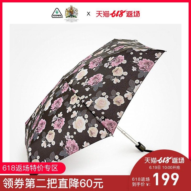 英国进口FULTON?#27426;?#39039;雨伞折叠伞超轻便携五折伞迷你口袋伞