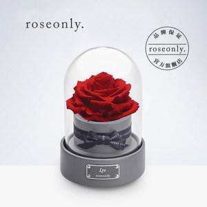 roseonly星座永生玫瑰音乐盒 星座专属音乐球 送爱人女友礼物推荐