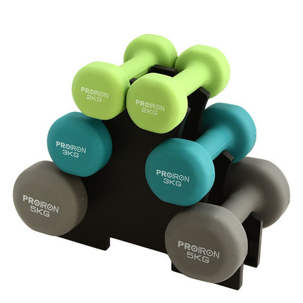2,3,5KG 3 pairs with dumbbell rack, skipping rope, towel