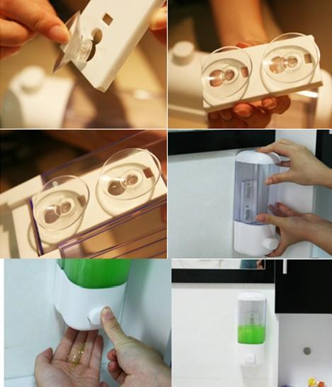 Дозатор для жидкого мыла Скачать Beat отверстие ванная комната стены всасывания мыла чашки всасывания дезинфицирующее средство для рук коробка дома настенные мыльницы картридж низкая цена Бесплатная доставка