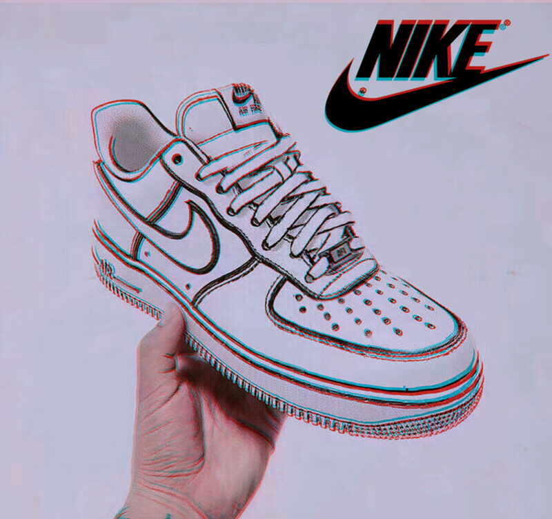 Force Shoes Canvas Limited Crochet Af1 Painted Diy Simple Custom Drawing Two Minimalist Edition Yuan One Hand Air Style bYyIg76mfv