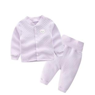 婴儿套装宝宝保暖高腰护肚裤男女儿童春秋