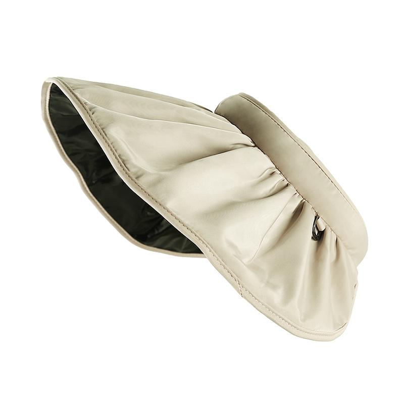 夏天帽子女空顶遮阳帽遮脸防紫外线太阳帽可折叠日本uvcut防晒帽