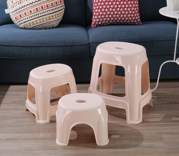 Children Furniture Household Thick Plastic Stool Fashion Coffee Table Stool Childrens Stool Adult Small Bench Stool Cooked Rubber Shoes Bench Children Chairs