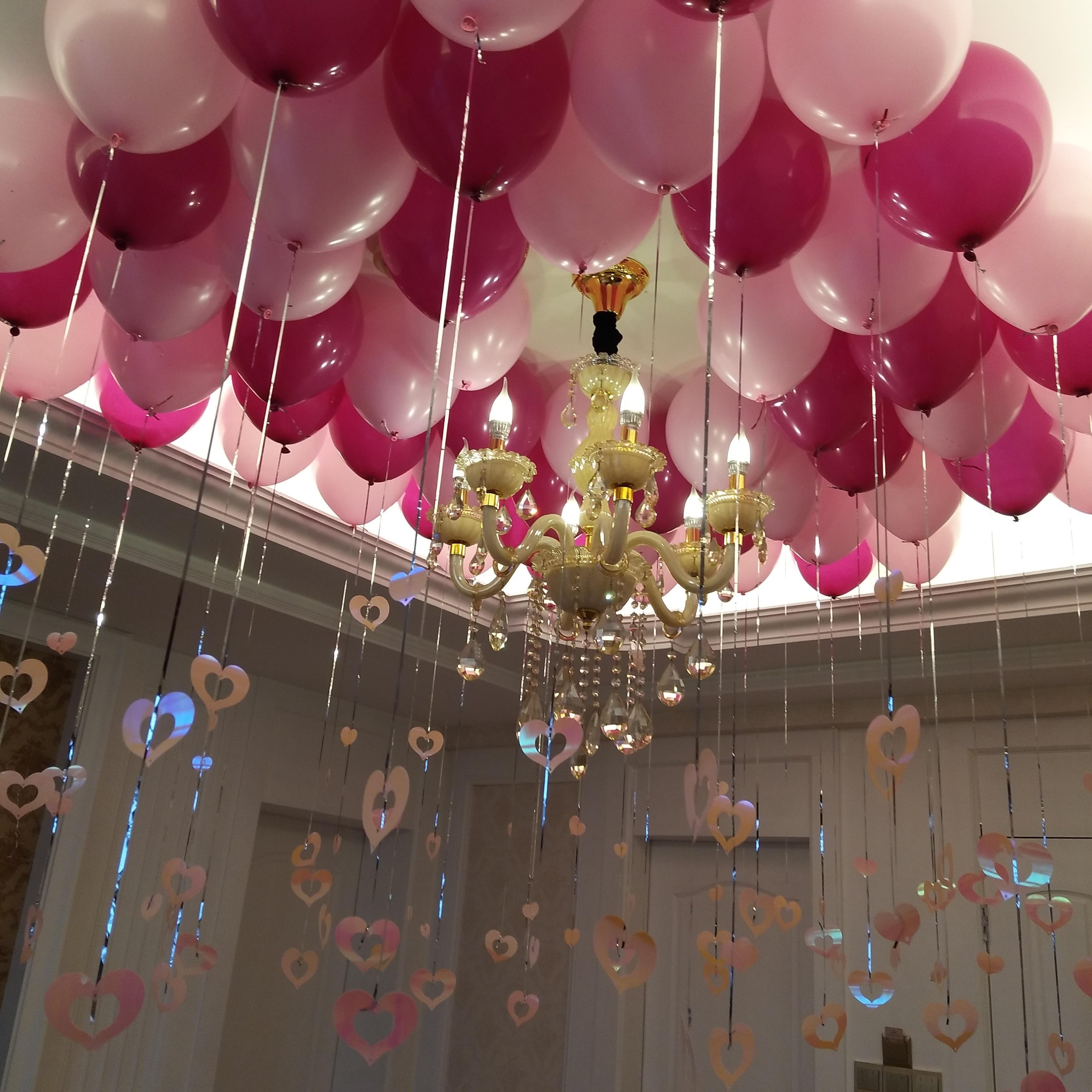装饰品彩色六一儿童节装饰气球挂饰百日场景蛋糕百天宝宝布置生日