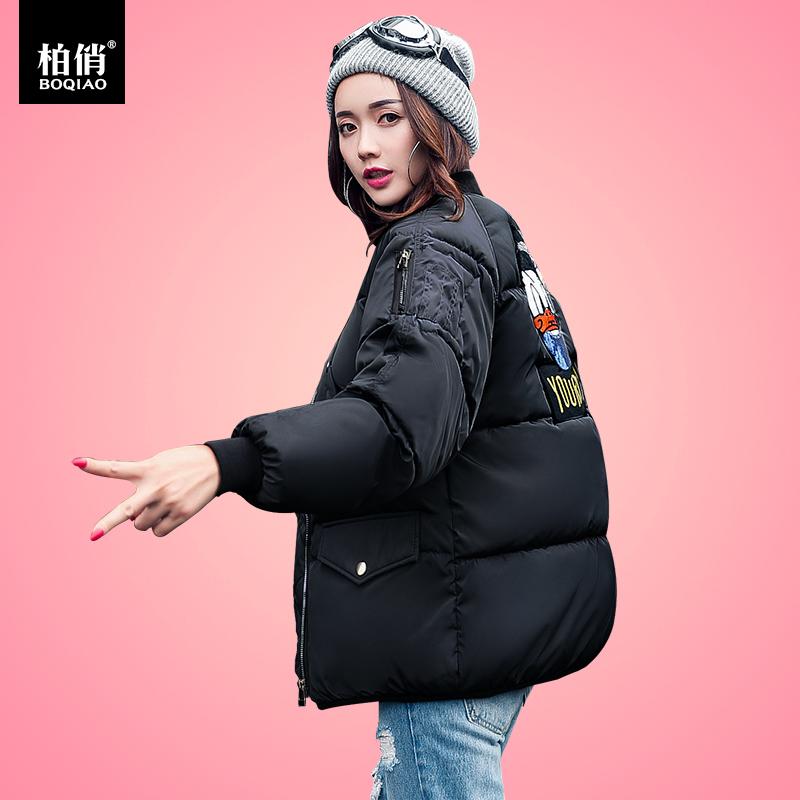 冬季面包服女短款2018新款棉袄女外套韩版学生棉衣宽松外套bf棉服