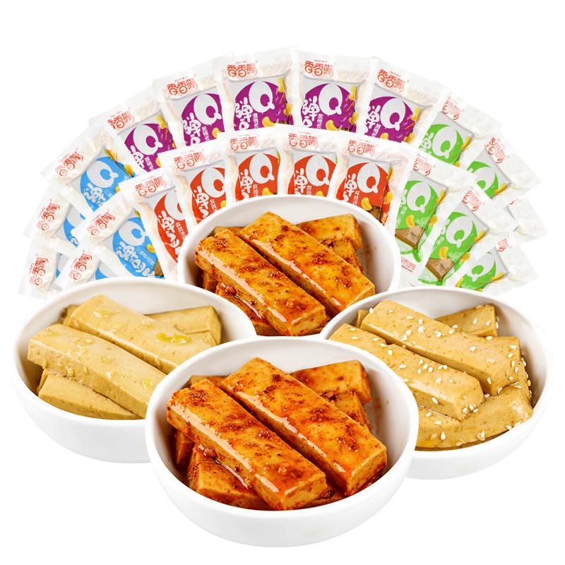 香香嘴q弹嫩豆干小零食1000g香辣四川豆腐干卤味麻辣五香散装小吃