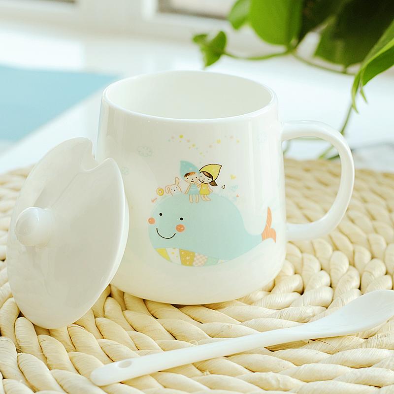 可爱创意陶瓷马克杯,送女生创意小礼物