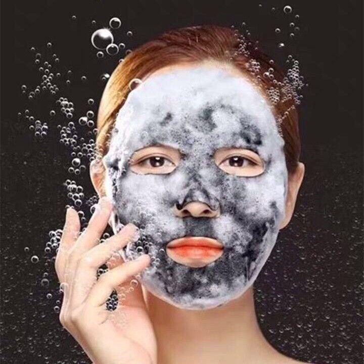 肤洛伊炭碳净透靓肤泡泡面膜清洁面膜贴女深层补水保湿控油提亮