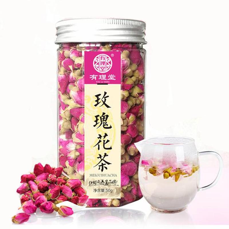 买二送一 玫瑰花茶 干玫瑰 平阴玫瑰花茶花草茶花茶茶叶罐装50g