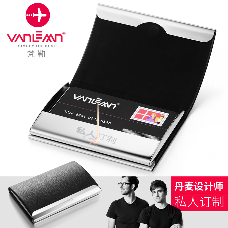 Usd 3759 vanlemn creative genuine leather business card case mens vanlemn creative genuine leather business card case mens european business stainless steel high capacity business card holder free engraving reheart Gallery