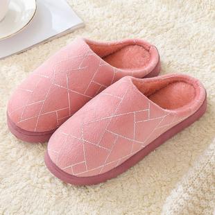 【僅售6.9】情侶保暖防滑棉拖鞋