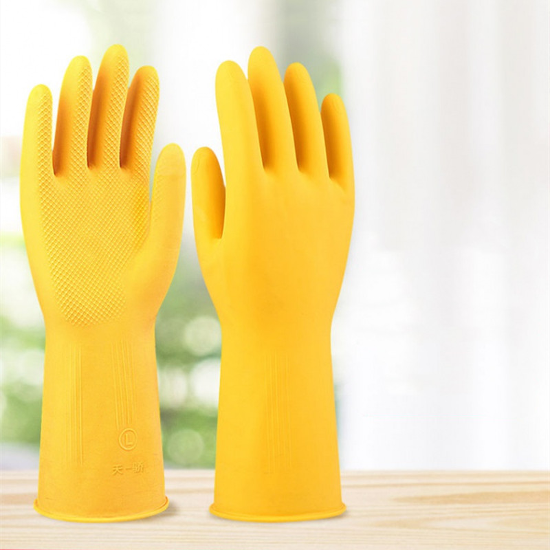 加厚牛筋洗碗手套防水乳胶橡胶胶皮家务耐磨劳保冬季洗衣服手套3