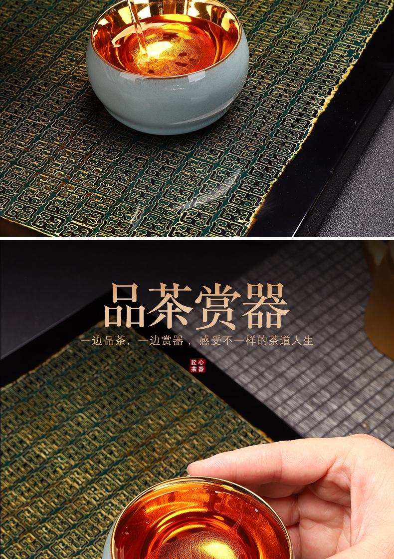 Recreation article 24 k konoha guanyao cup lamp tire iron yellow marigold home built slicing can raise ceramic small lamp that single CPU