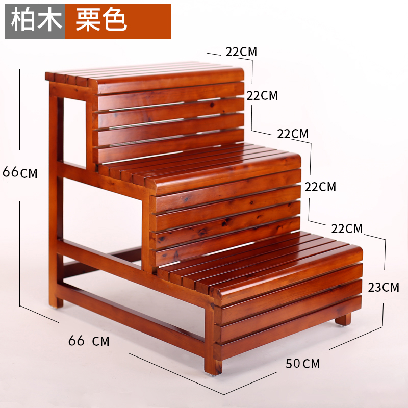 Amazing Household Ladder Solid Wood Mobile Ladder Stool Dual Use Pabps2019 Chair Design Images Pabps2019Com