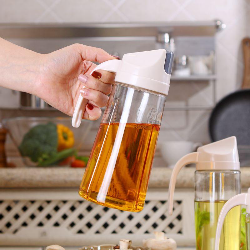 自动开合防溢玻璃防漏油瓶油壶