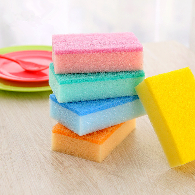 USD 7.27] Japan kitchen sponge scouring pad clean cloth clean sponge ...