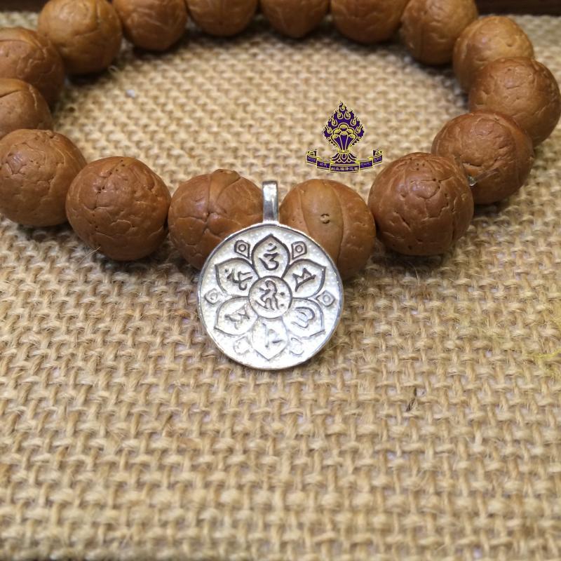 Тибетский сувенир из бронзы Тибетский Буддизм поставляет стерлингового серебра 925 девяти-дворцовые сплетни карт, Фэн-Шуй карты листинг калибр 1. 8см