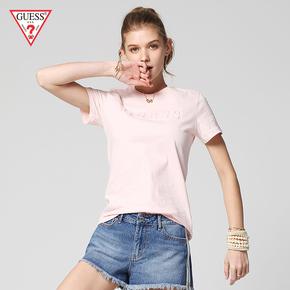 GUESS любителей 2018 весна мисс трехмерный рельеф LOGO короткий рукав T футболки -YI2K8432K, цена 2060 руб