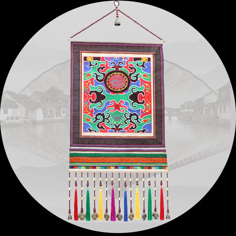 Phong cách dân tộc trang trí thêu tấm thảm Trung Quốc TV nền tường tranh toàn bộ hiên nhà lẩu treo tường nhà hàng - Tapestry