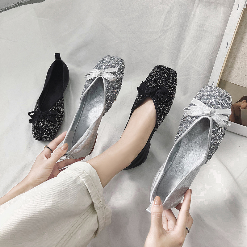 仙女的鞋子平底2018秋夏季新款韩版百搭网红单鞋豆豆鞋女浅口瓢鞋
