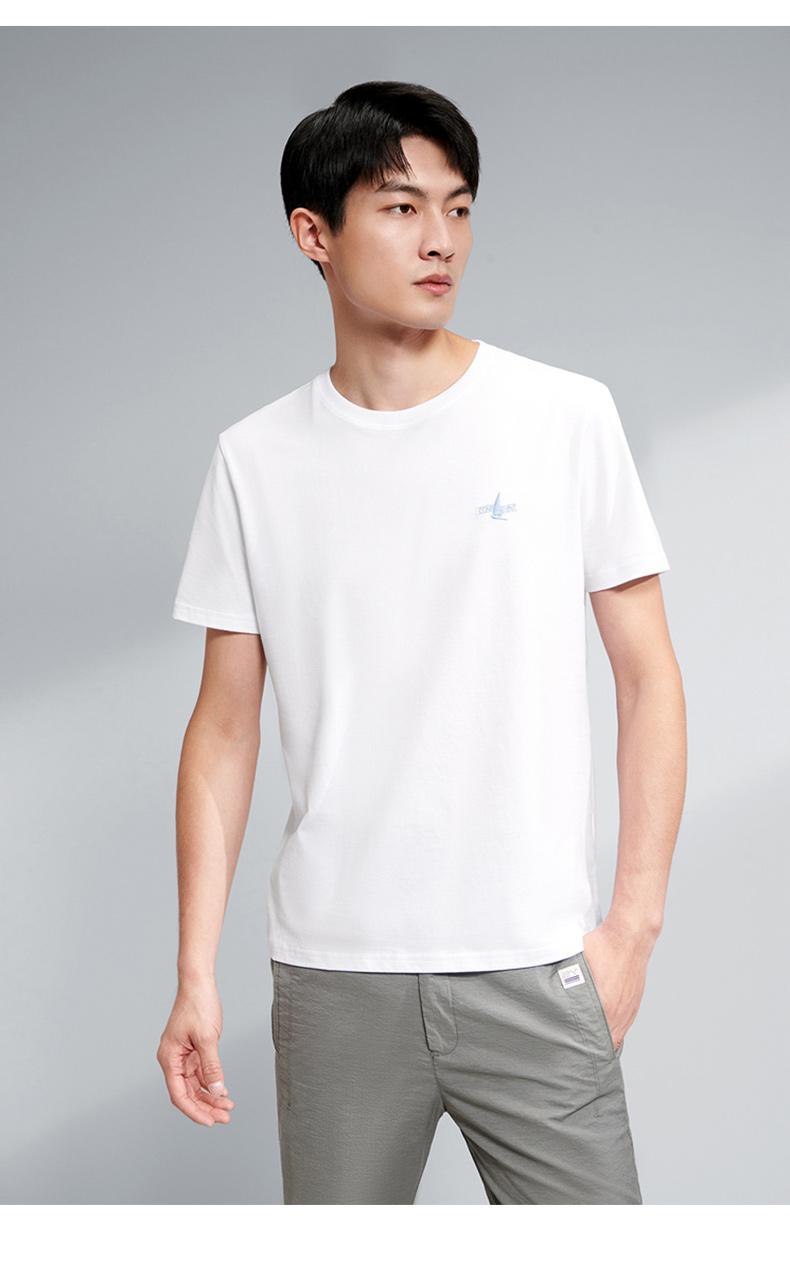 海澜之家 HLA 2021新款 男纯棉短袖T恤 图6