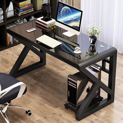 Desktop computer desk home simplicity single office desk Internet cafe sports desk Hyun cool TV game table chair
