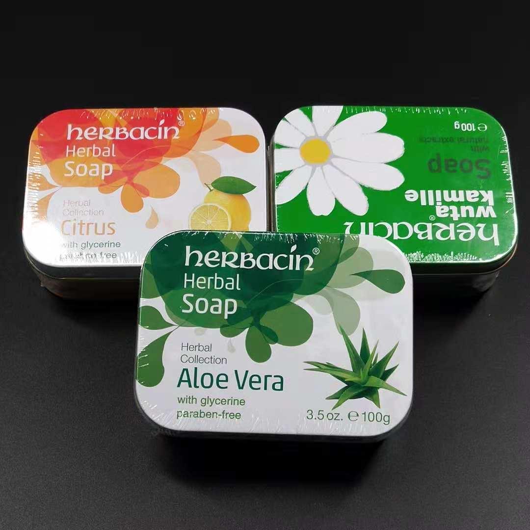 德国herbacin贺本清小甘菊补水保湿滋润亮肤皂100g三种规格可选