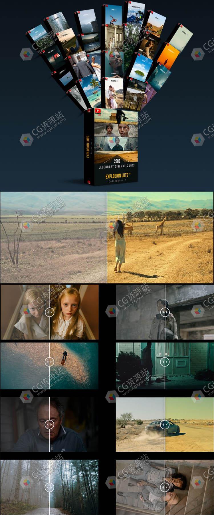 3100个电影级LUTs视频调色预设合集1&2