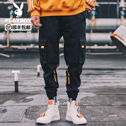 花花公子 秋季新款港风工装裤
