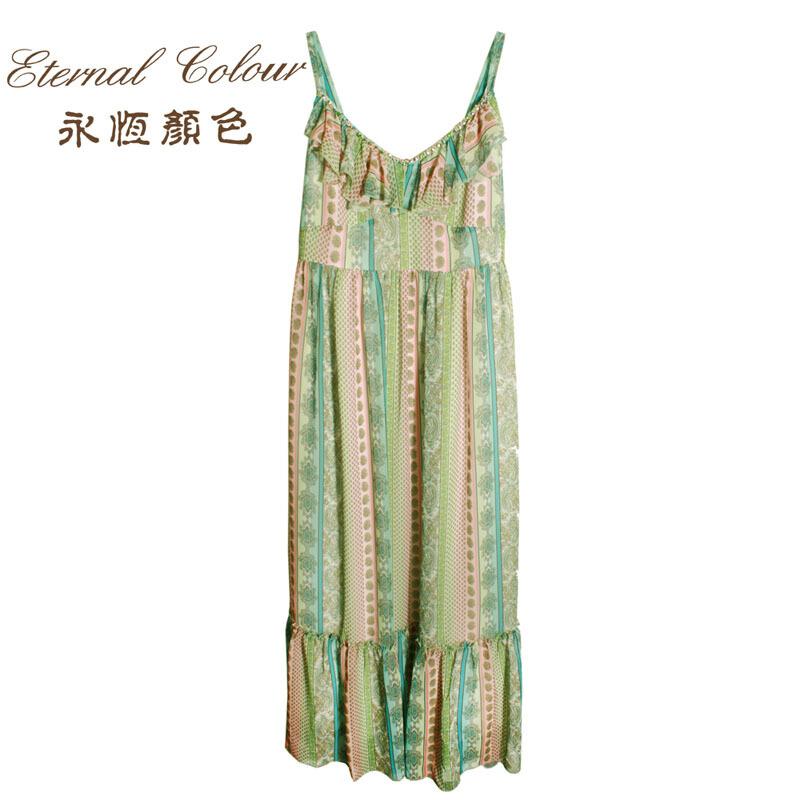 永恒颜色夏款吊带连衣裙高端品牌女装专柜正品连衣裙 F25843