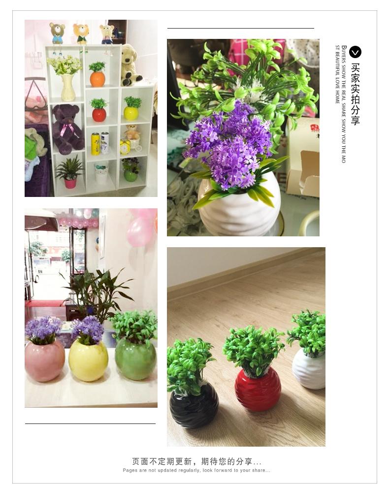 작은 꽃 꽂은 공예품 瓶花 도 자기 작은 장식물 신설 현대 살다 ...