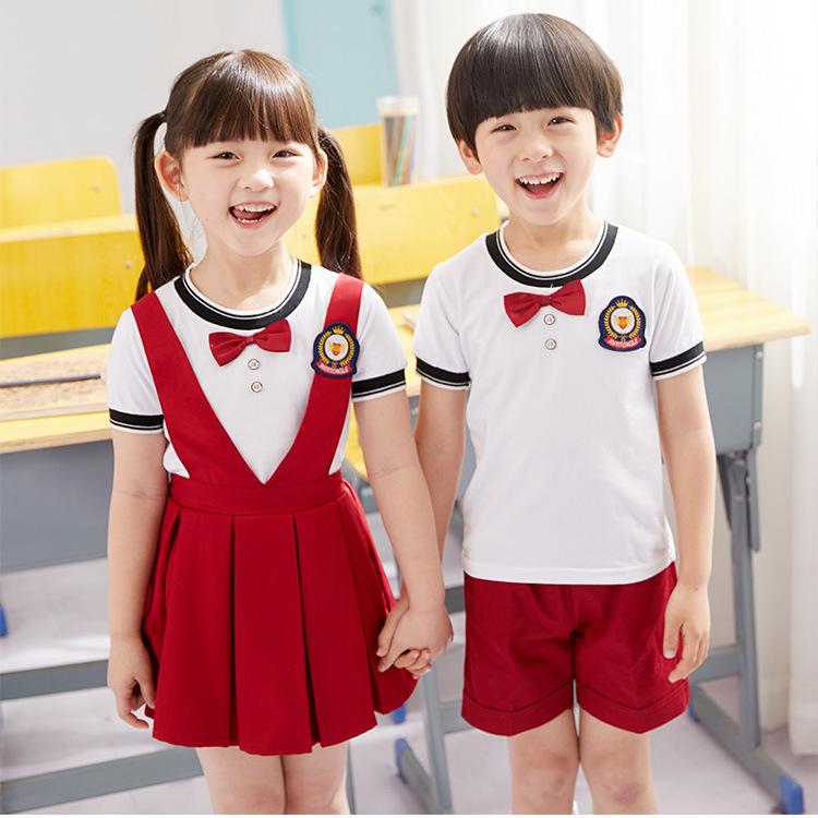 Mùa hè 2019 đồng phục mẫu giáo mới cho bé trai và bé gái đồng phục kiểu cotton Anh - Đồng phục trường học / tùy chỉnh thực hiện