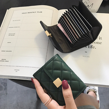 2018 new women's style, European and American sheepskin, many cards, small cards, business cards, women.