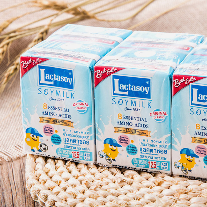 125 ml * 18 boxes of lactasoy original soymilk net red beverage breakfast  milk imported from Thailand