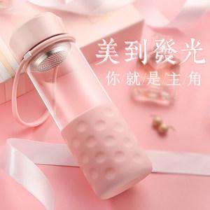 富光玻璃杯便携女士可爱加厚家用创意花茶杯过滤随手杯耐热水杯子