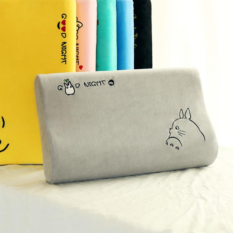 慢回弹护颈记忆枕可爱学生成人棉记忆枕太空枕芯夏天颈椎卡通枕头