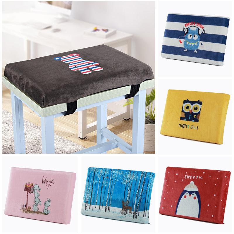 卡通坐垫学生教室椅子座垫凳子垫子宿舍屁垫记忆棉加厚长方形椅垫