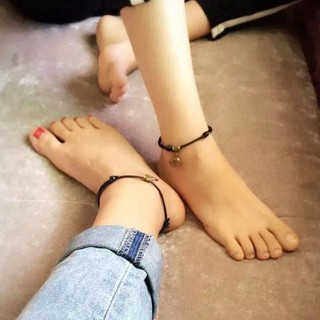 Twelve constellation anklet men and women bell couple retro natal year red rope braided foot rope student girlfriends foot jewelry