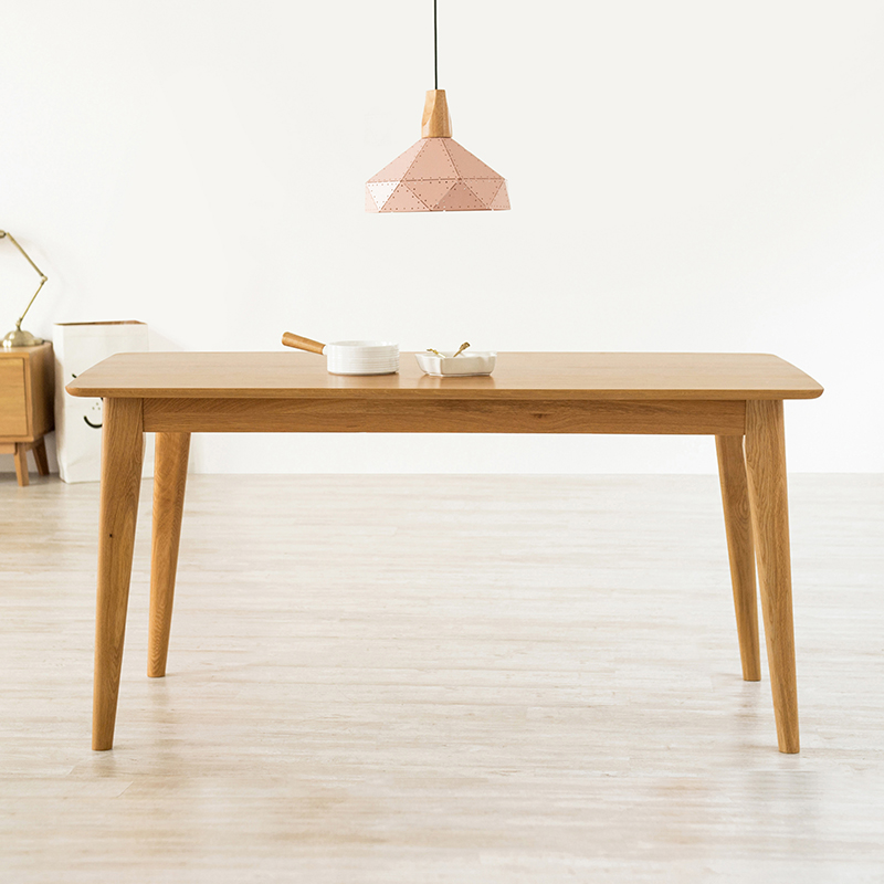 Usd White Oak Solid Wood Nordic Dining Table