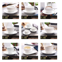 Бесплатная доставка по китаю Гостиничный номер общего назначения новая коллекция Кафе керамика белый шина Цветочная чашка Американский стиль Английская кофейная чашка с блюдцем